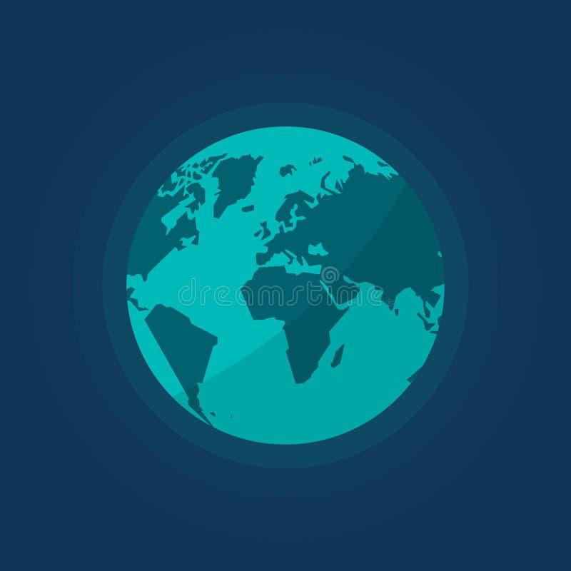 Globo de la tierra del ejemplo aislado espacio del vector ilustración del vector