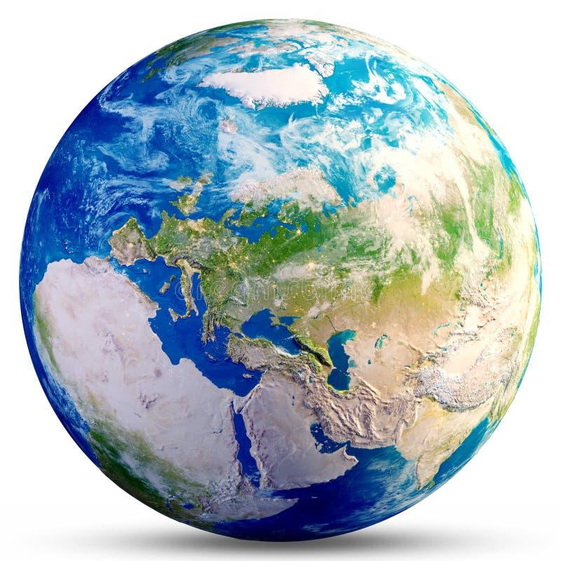 Globo de la tierra del planeta