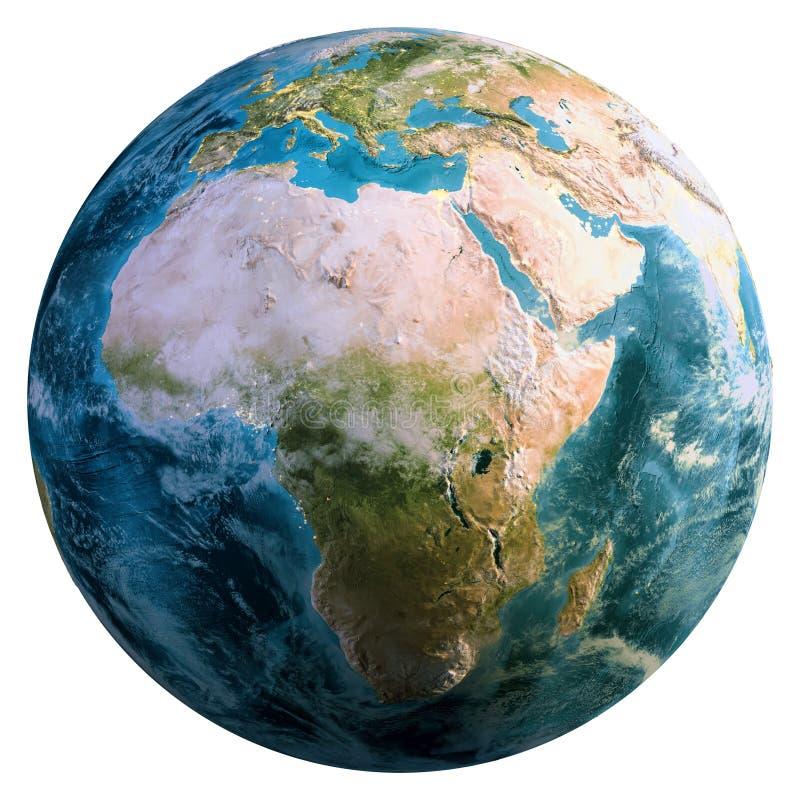Globo de la tierra del planeta foto de archivo