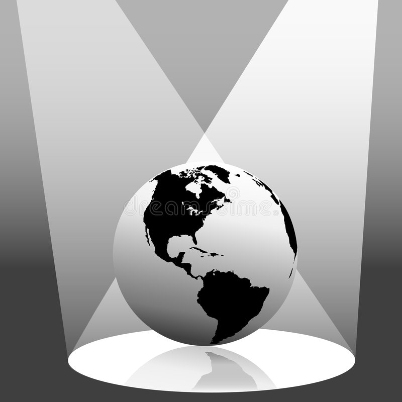 Globo de la tierra en el proyector del oeste libre illustration