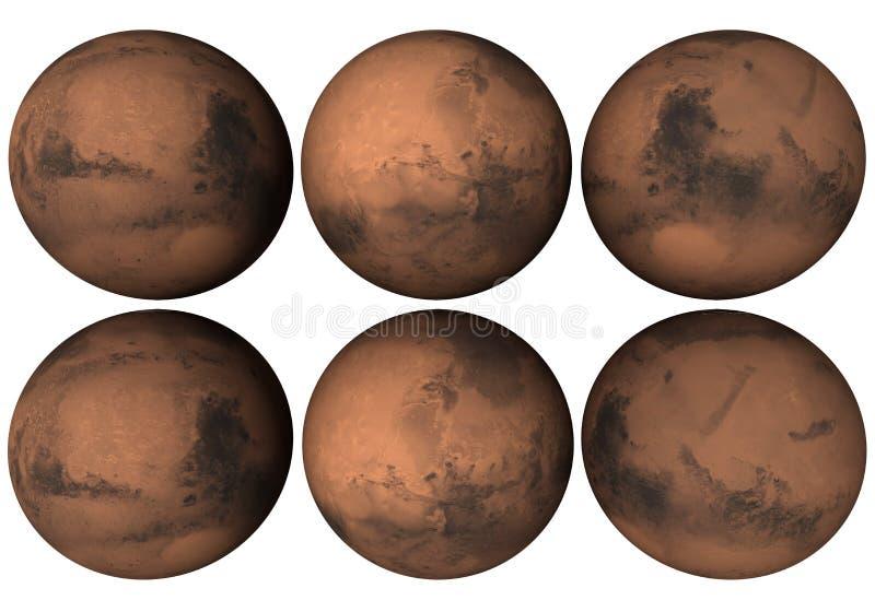 Globo de Marte ilustração stock