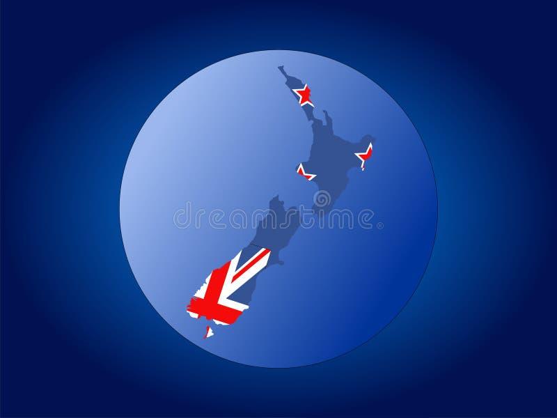 Globo de Nova Zelândia ilustração stock