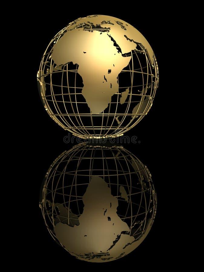 Globo de oro stock de ilustración