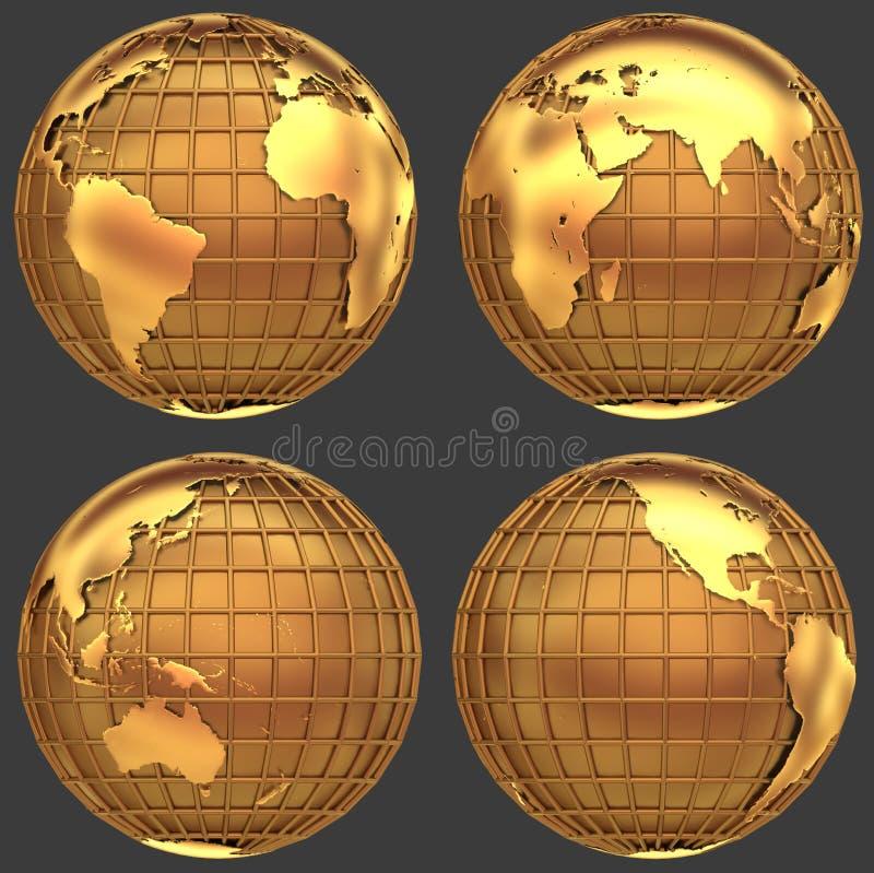 Globo de oro ilustración del vector