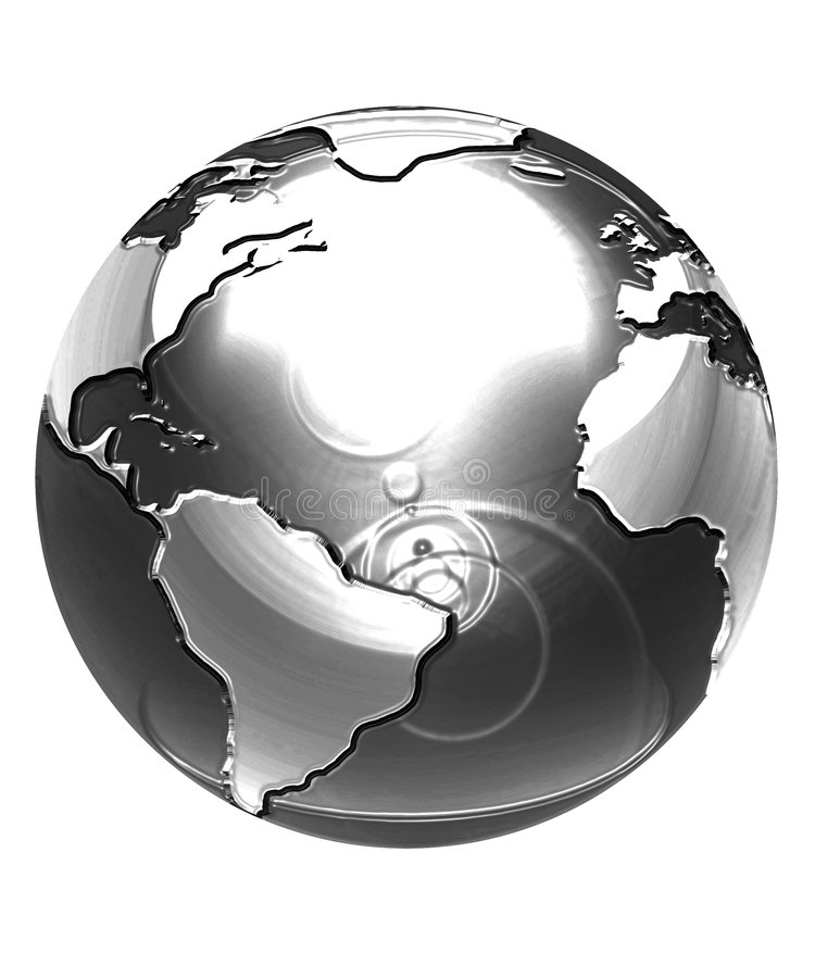 Globo de plata stock de ilustración