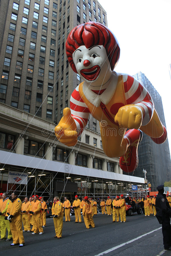 Globo de Ronald McDonald. foto de archivo