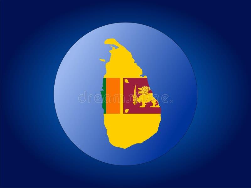 Globo de Sri Lanka ilustración del vector