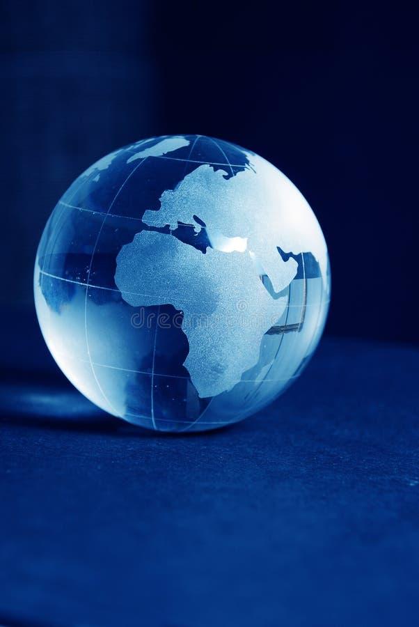 Globo de vidro azul fotos de stock royalty free