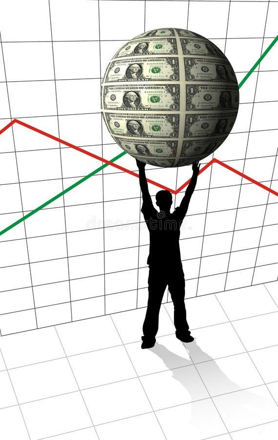 Globo dei soldi della holding royalty illustrazione gratis