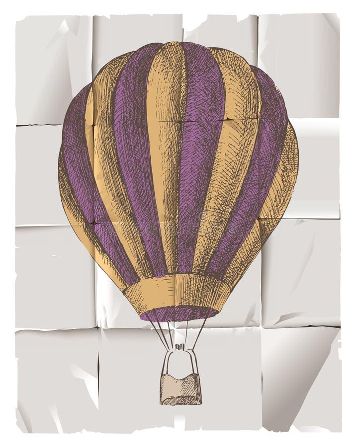 Globo del aire caliente stock de ilustración