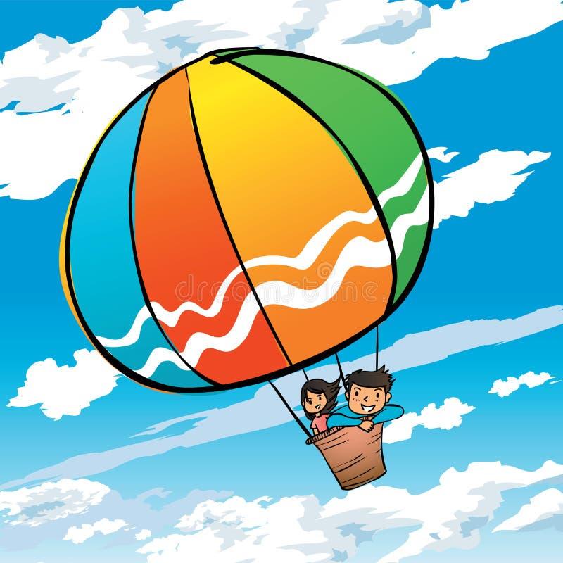Globo del aire caliente libre illustration