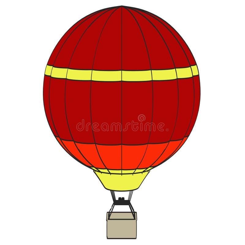 Globo del aire caliente ilustración del vector