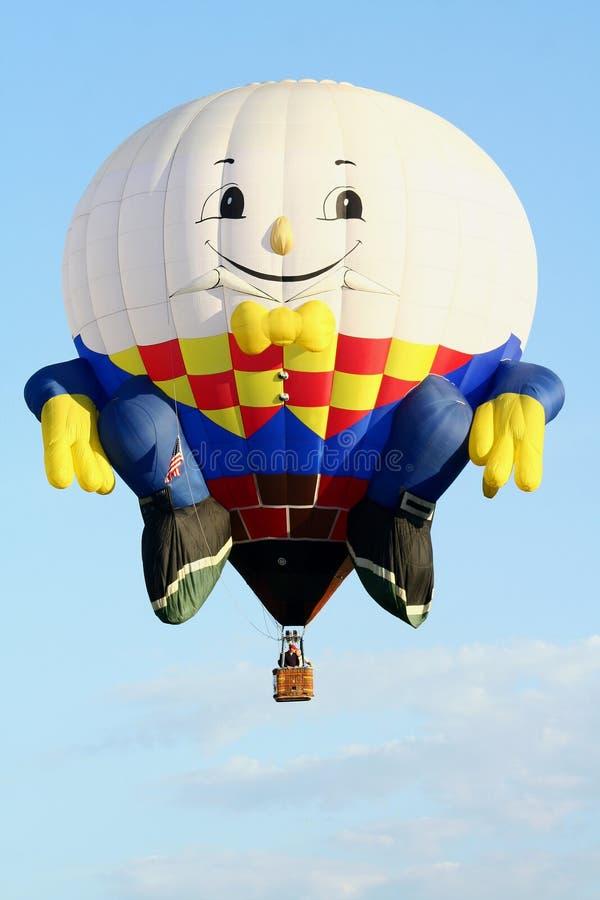 Globo del aire caliente de Humpty Dumpty imagenes de archivo