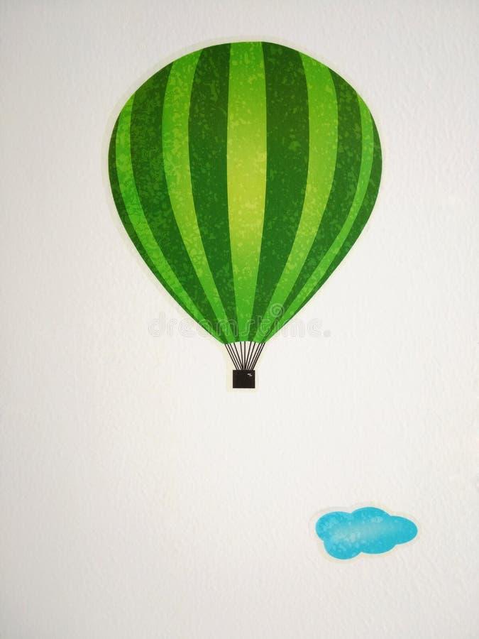 globo del aire caliente de la historieta imagenes de archivo