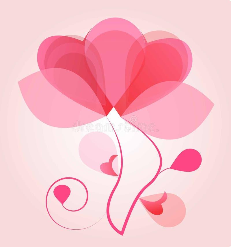 Globo del amor ilustración del vector