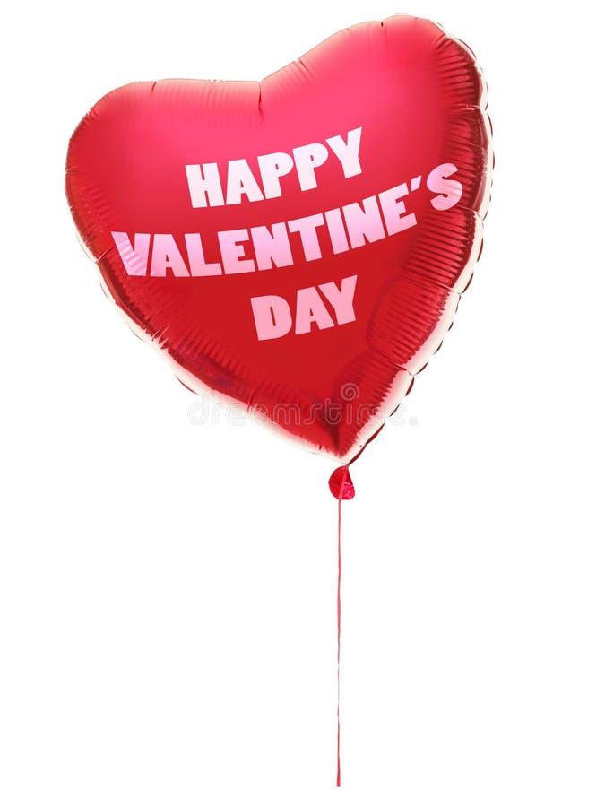 Globo del corazón del día de tarjetas del día de San Valentín fotografía de archivo libre de regalías