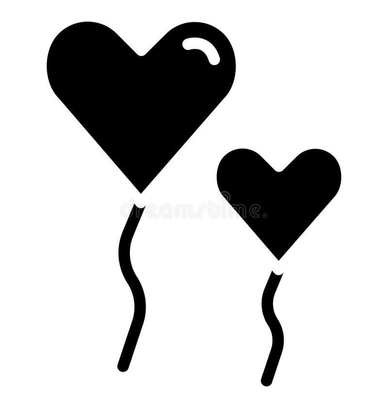 globo del corazón, icono aislado corazón que puede ser modificado o corregir fácilmente en cualquier globo del corazón del estilo stock de ilustración