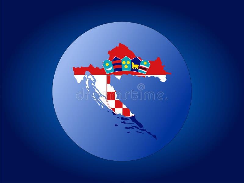 Globo del Croatia illustrazione di stock