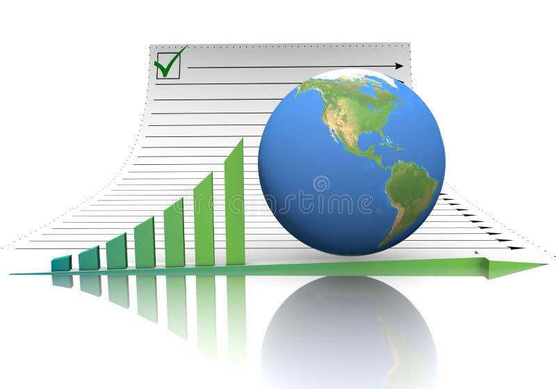 Globo del documento dello schema illustrazione di stock