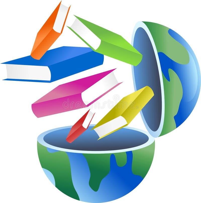 Globo del libro stock de ilustración