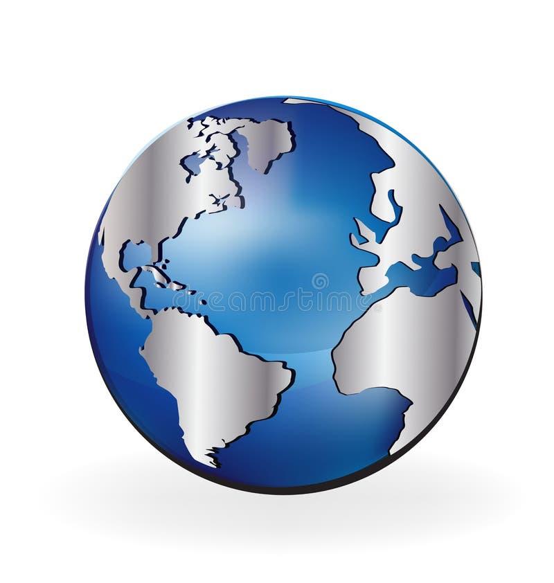 Globo del mondo della mappa illustrazione vettoriale