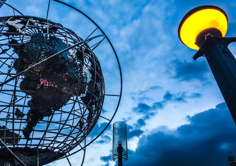 Globo del mondo di New York immagini stock