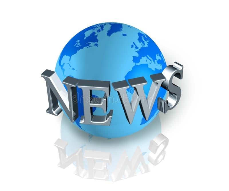 Globo del mondo di notizie illustrazione vettoriale