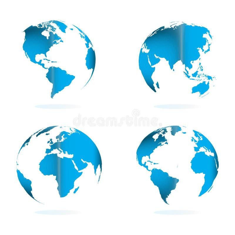 Globo del mundo stock de ilustración
