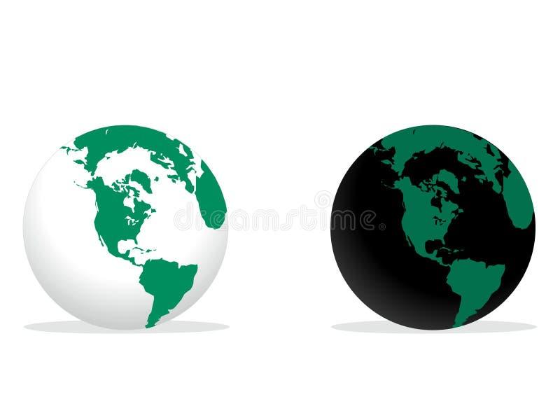 Globo del mundo ilustración del vector
