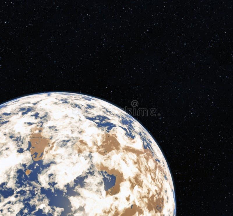 globo del mundo de la representación 3D del espacio Tierra Vista de la tierra del espacio Elementos de esta imagen equipados por  libre illustration