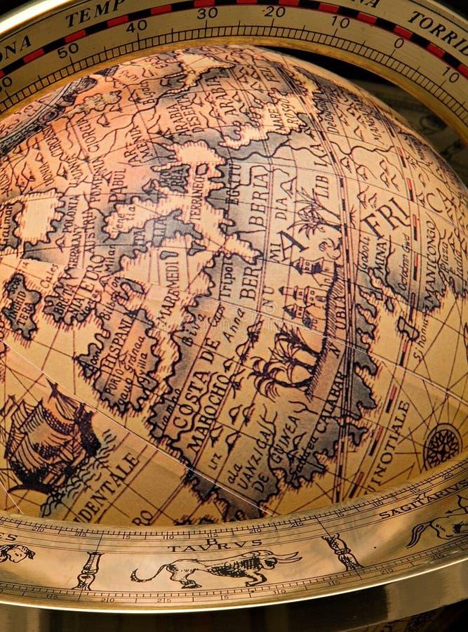 Globo del mundo de Olde foto de archivo