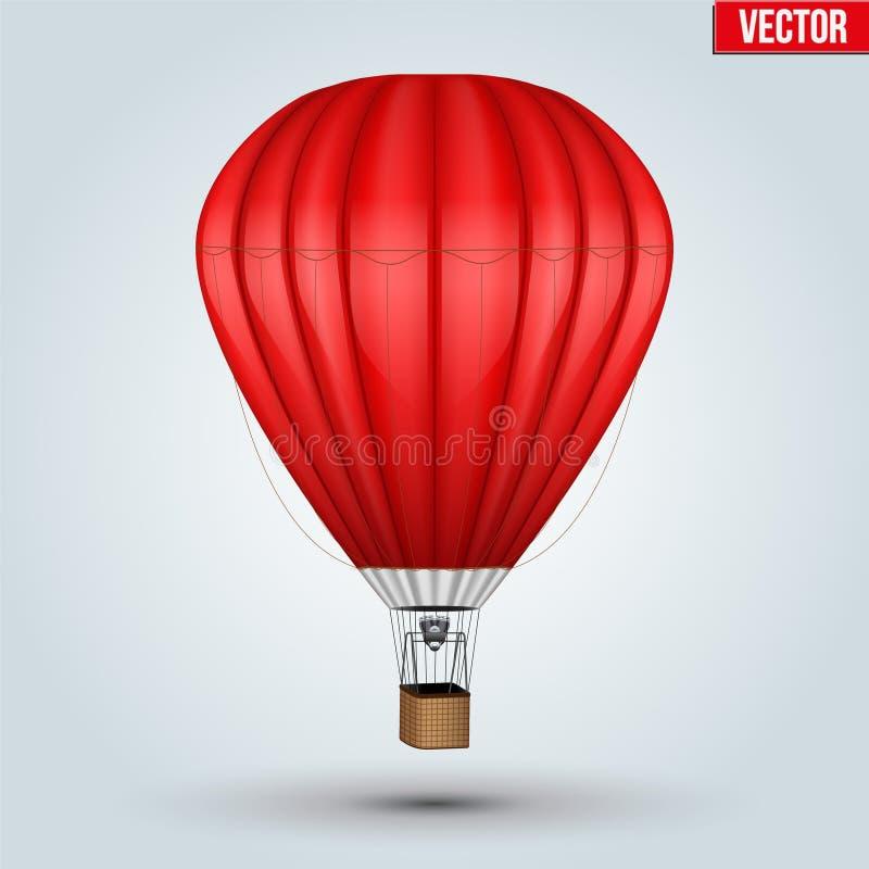 Globo del rojo del aire caliente libre illustration
