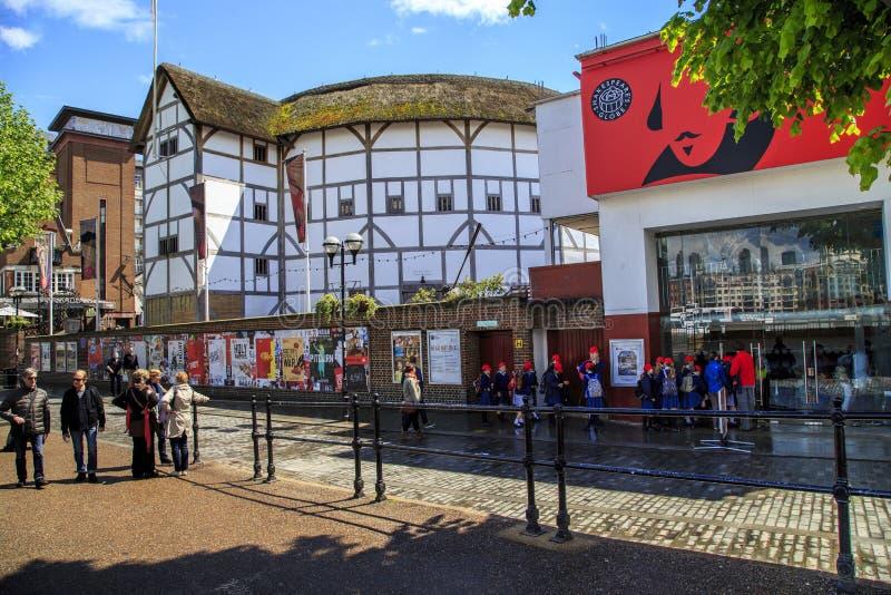 Globo del ` s de Shakespeare, Londres imagenes de archivo