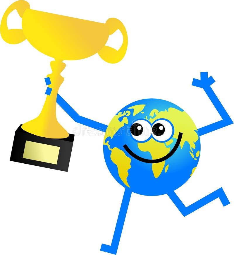 Globo del trofeo illustrazione di stock