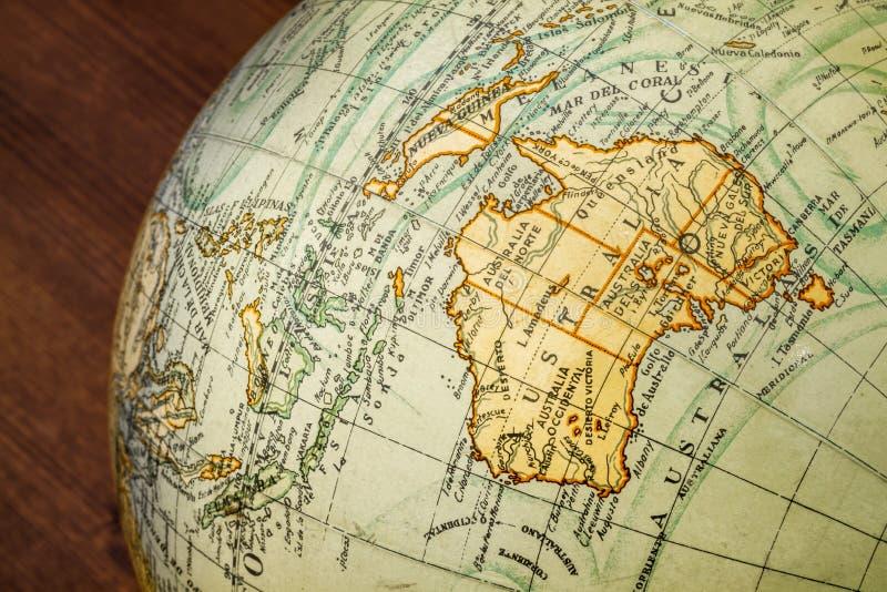 Globo del Viejo Mundo: Australia imagen de archivo libre de regalías