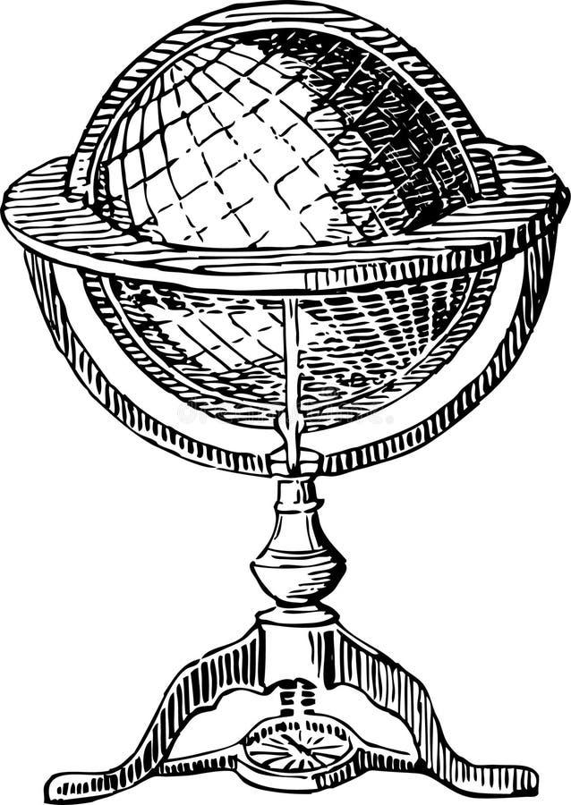 Globo del vintage stock de ilustración
