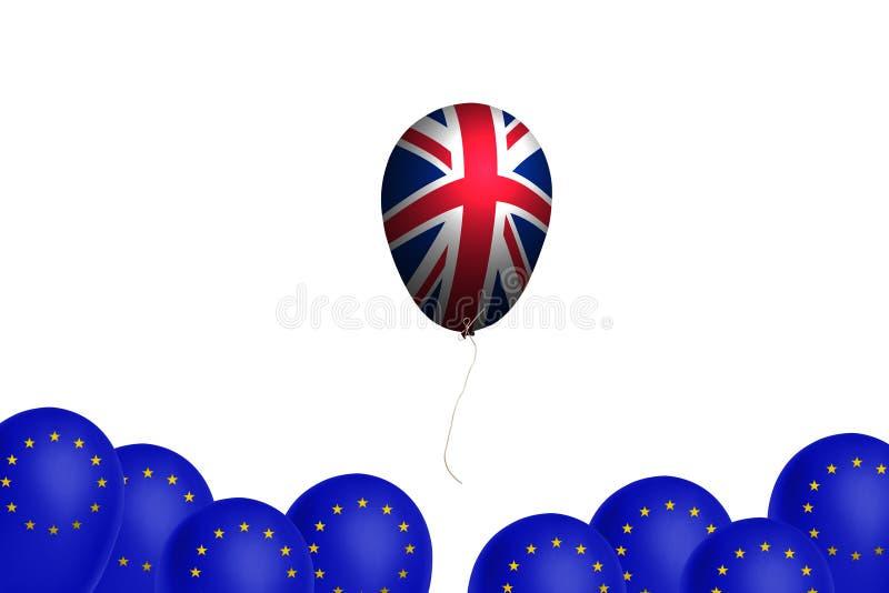 Globo del vuelo con la bandera del Reino Unido libre illustration