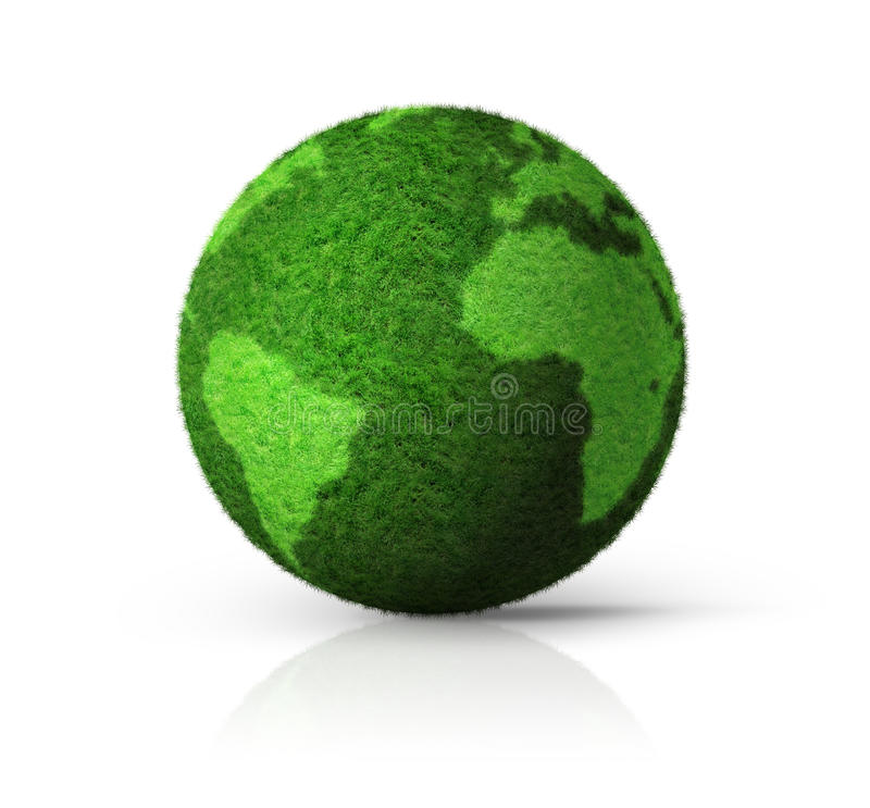 globo dell'erba verde 3D royalty illustrazione gratis