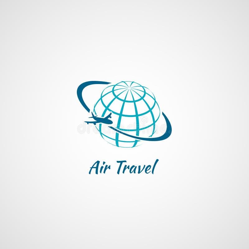 Globo dell'icona dell'aeroplano illustrazione vettoriale