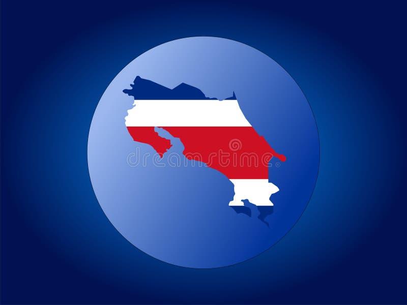 Globo della Costa Rica illustrazione vettoriale