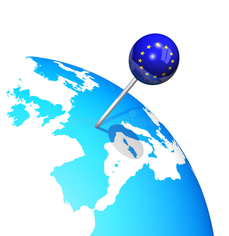 Globo della mappa di Europa illustrazione vettoriale