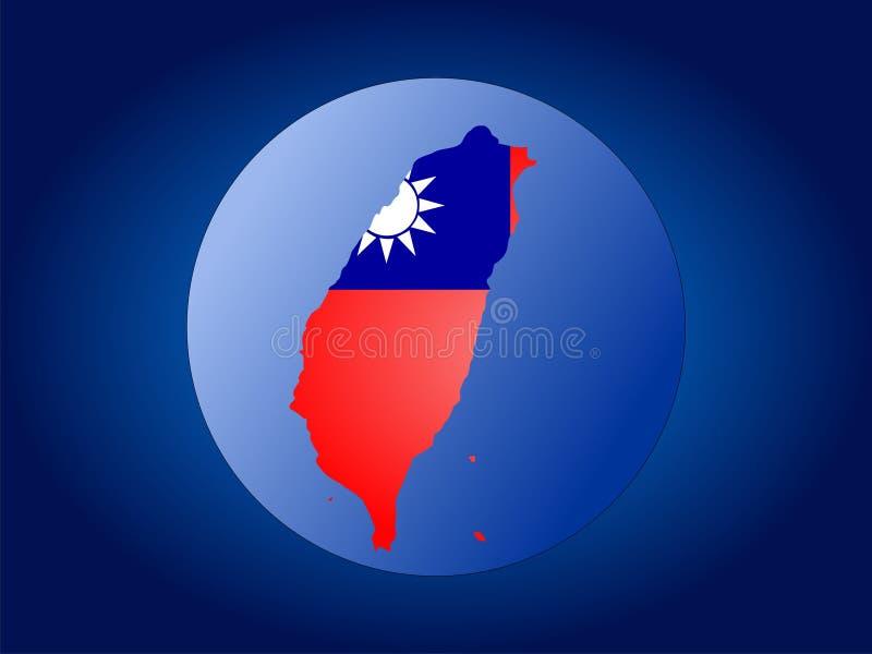 Globo della Taiwan illustrazione vettoriale