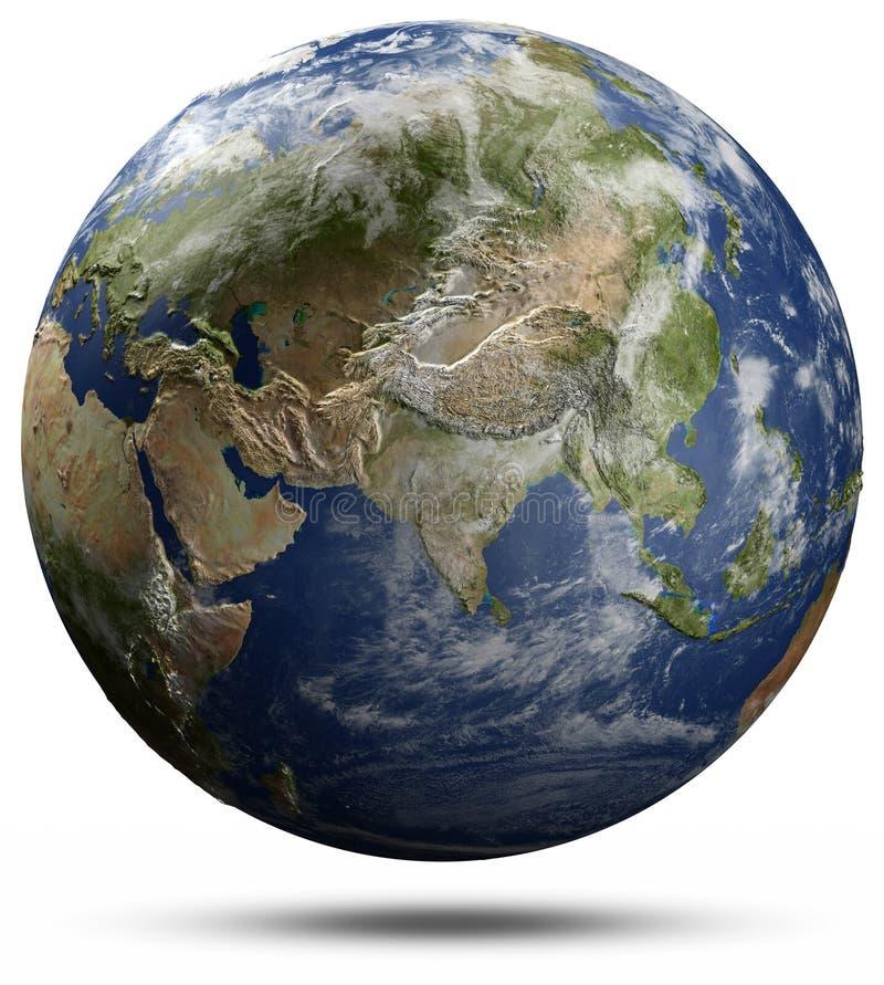 Globo della terra - Asia illustrazione vettoriale