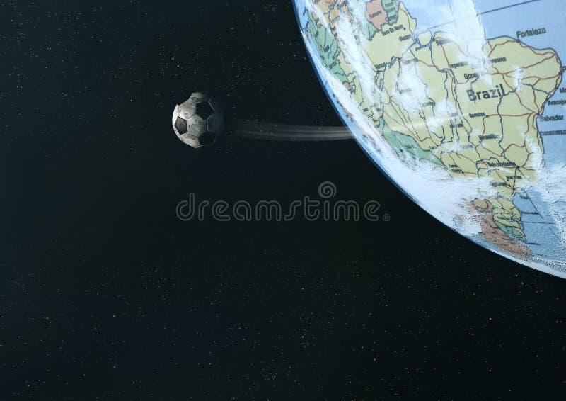 Globo di calcio illustrazione vettoriale