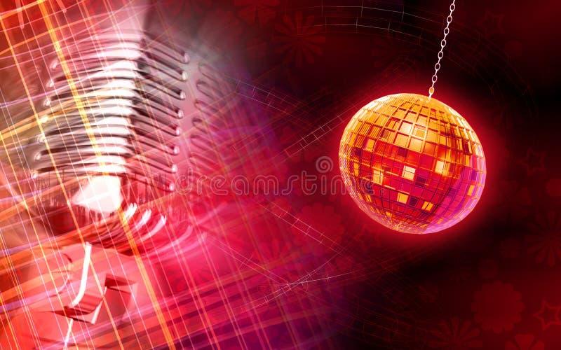 Globo di Digitahi e priorità bassa del microfono illustrazione vettoriale