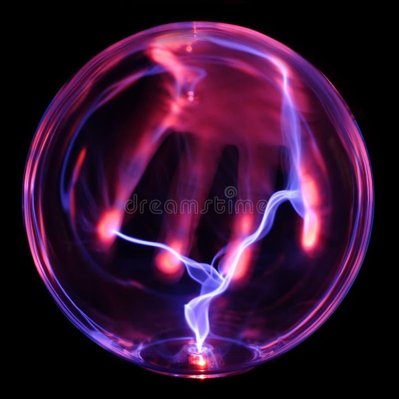 Globo di energia, con la mano fotografia stock