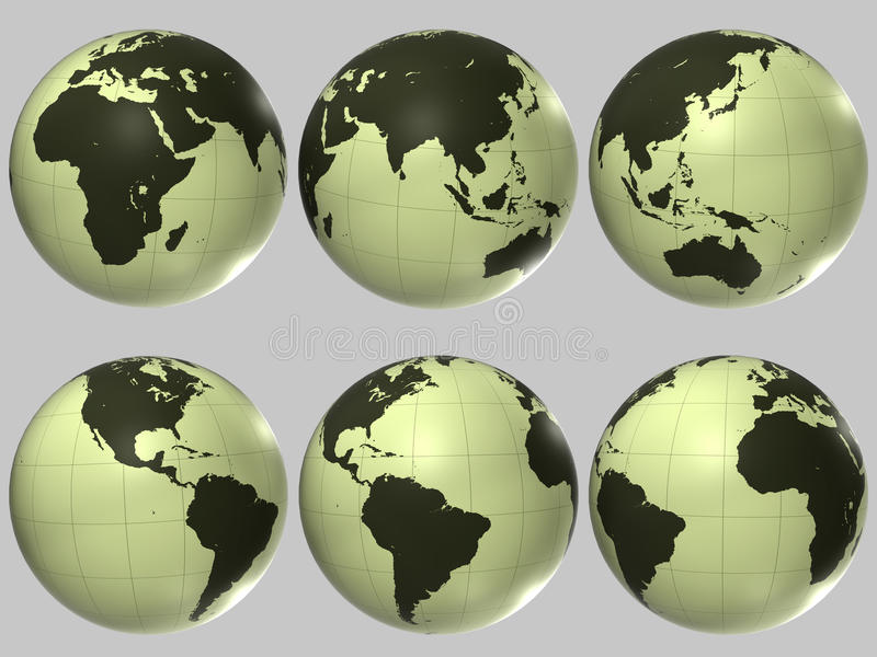 Globo di plastica del mondo fotografia stock libera da diritti