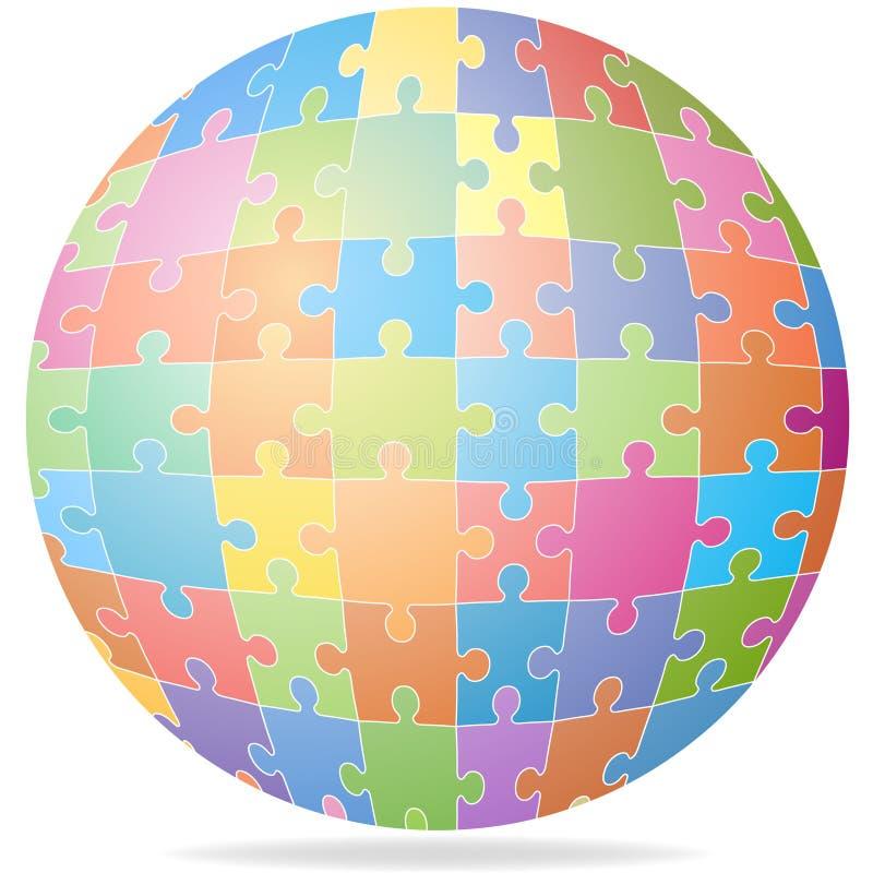 Globo di puzzle illustrazione di stock