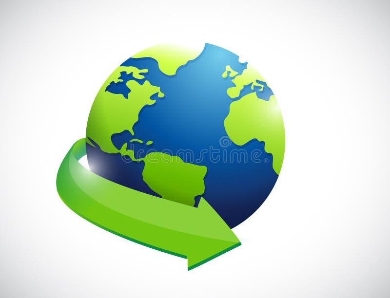 Globo. diseño internacional del ejemplo del concepto stock de ilustración
