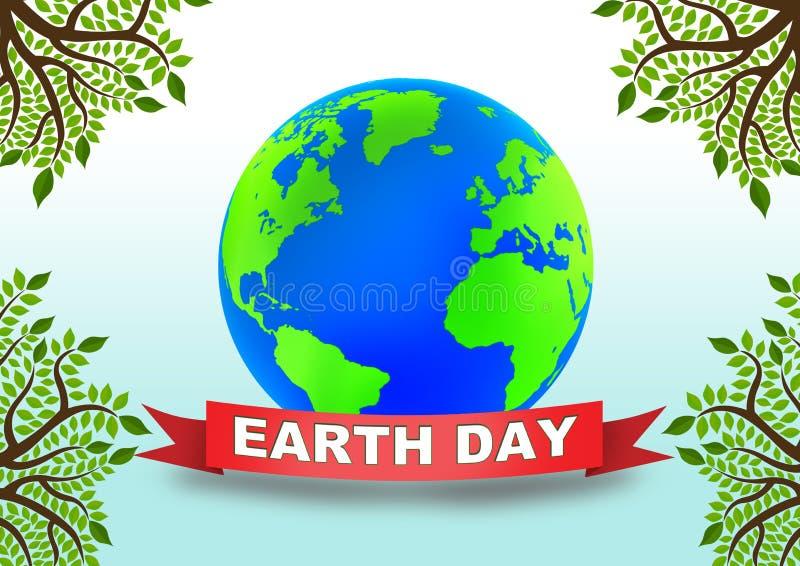 Globo do Dia da Terra ilustração royalty free
